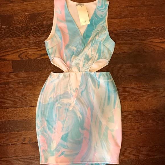Tobi Dresses & Skirts - TOBI Tie Dye Cut Out Bodycon Dress